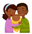 dark skinned parents with a baby vector image vector image