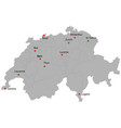 detailed map of the switzerland vector image