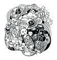 Doodle robots doodle robot element vector image vector image