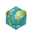 earth polygon planet geometric figure hexagon vector image vector image