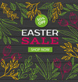 easter sale discount template vector image vector image