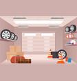 empty garage interior with vector image vector image
