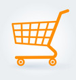 flat design shopping cart vector image