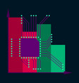 flat icon on stylish background nanotechnology vector image vector image