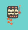 flat icon on stylish background poker slot machine vector image