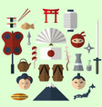Flat Japan icon vector image vector image