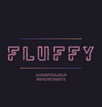 fluffy font alphabet vector image vector image