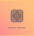 geometric ornament vector image vector image