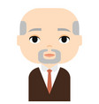 grandfather man avatar male cartoon character vector image