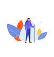 hiking occupation hobby concept vector image