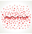 Innovation word with in alphabets vector image
