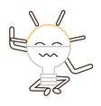 kawaii light bulb icon vector image