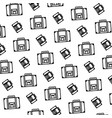line briefcase journey tourist object background vector image vector image