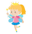 little girl dresses in fairy outfit vector image