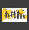 mannequins production banner web design vector image vector image