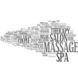 massage word cloud concept vector image vector image