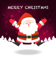 Merry Christmas happy Santa Claus jumping vector image