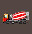 modern concrete mixer vector image