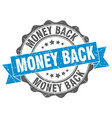 money back stamp sign seal vector image vector image