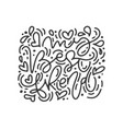 monoline calligraphy phrase my best friend vector image