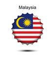 national flag of malaysia on a bottle cap vector image vector image