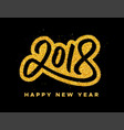 new year 2018 greeting card design vector image