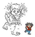 numbers game werewolf vector image vector image