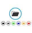 open folder rounded icon vector image vector image