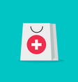 pharmacy bag flat cartoon vector image vector image