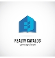 Real Estate Catalog Concept Symbol Icon or Logo vector image vector image