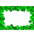 saint patrick day background with trefoil clover vector image vector image