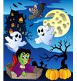 scene with halloween theme 2 vector image vector image
