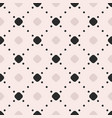 seamless pattern dotted lines diagonal lattice vector image vector image