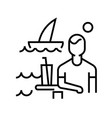 seaside vacation line icon concept sign outline vector image vector image