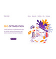 seo optimization webpage or website template vector image