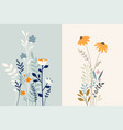 set floral background vector image vector image
