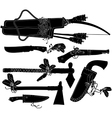 set of weapons American indian vector image