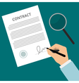 Signing contract green vector image vector image