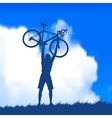 silhouette of a cyclist vector image vector image