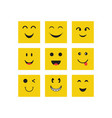 smile face expression design template vector image
