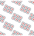 Sushi sets seamless pattern white vector image