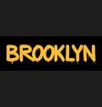tag inscription brooklyn graffiti lettering vector image vector image
