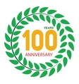 Template Logo 100 Anniversary in Laurel Wreath vector image vector image
