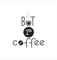 text logo lettering at the coffee shop vector image vector image