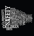 the child safety devices you need in your home vector image vector image