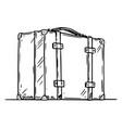 travel suitcase cartoon stick figure vector image