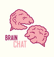 Two brains vector image
