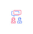 two people talking communication concept vector image
