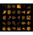 various dots dynamic objects vector image vector image