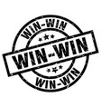 win-win round grunge black stamp vector image vector image
